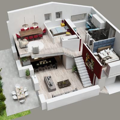 Progetto di nuove ville bifamiliari