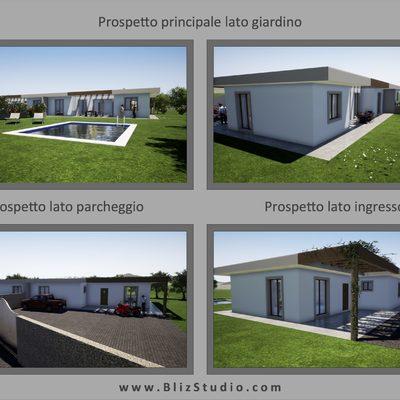 Progetto per la realizzazione di una villa bifamiliare