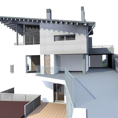 Progettazione esecutiva e realizzazione casa in legno a 2 piani
