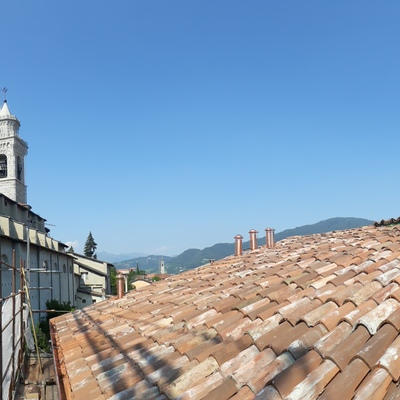 Restauro copertura centro storico