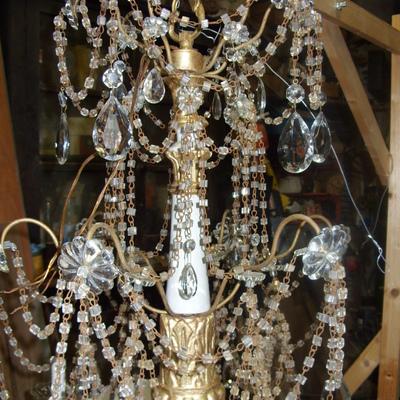Progetto di restauro di un lampadario antico Luigi XVI
