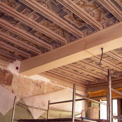 Progetto Restauro Mimetico dei soffitti.