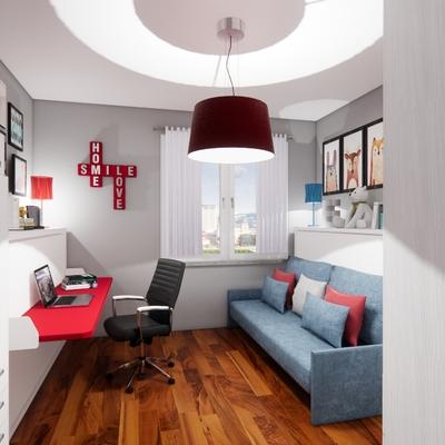 Progetto d'arredo trasformabile appartamento in Torino