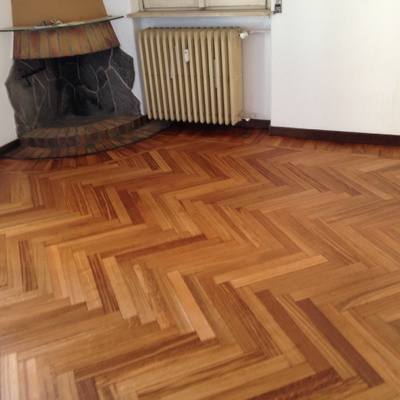 progetto Rilamatura pavimento in legno
