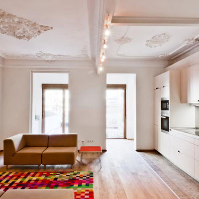 Ristrutturazione di un appartamento modernista, luminoso ed incantevole
