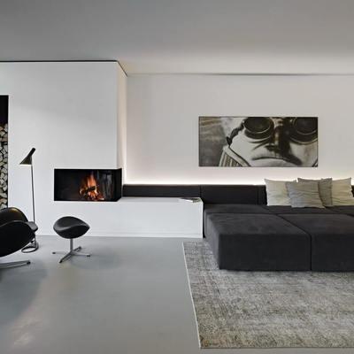 Un appartamento in stile nordico con terrazza nel verde