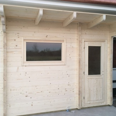 Installazione sauna da esterno