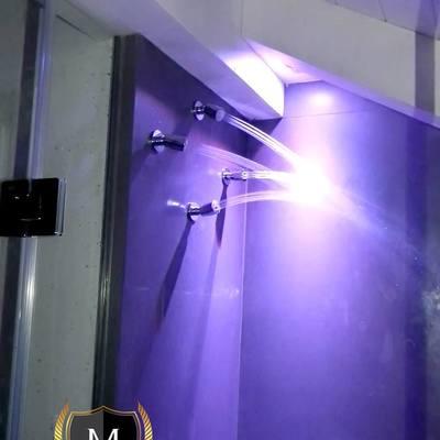 Realizzazione box doccia in sottotetto