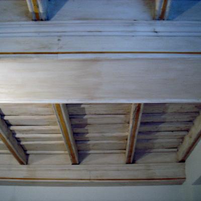 Soffitto completato laccato e antichizzato