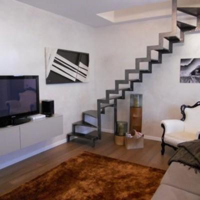 Progetto ristrutturazione appartamento su due piani a Aviatico (BG)