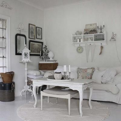 Idee e foto di saloni in stile classico per ispirarti for Soggiorno shabby