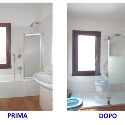 Idee di sostituire bagno vasca da bagno per ispirarti habitissimo - Finestra nella doccia ...