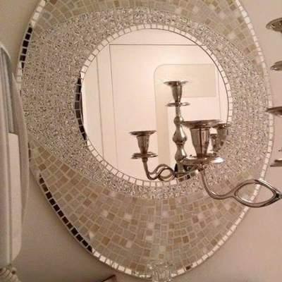 """Specchio """"Tortorelle"""" da ingresso su misura"""