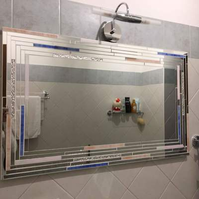 specchio Trendy da bagno in mosaico su misura
