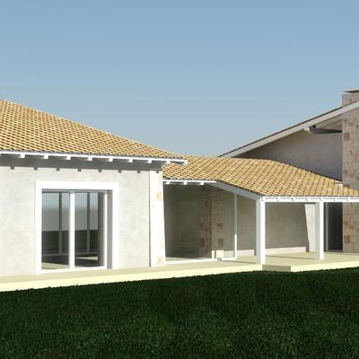 Progetto Villino Unifamiliare in stile Mediterraneo