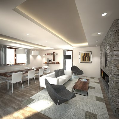 Progetto Ristrutturazione zona giorno di un casale a Perugia