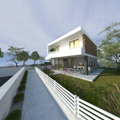 Progetto per abitazione residenziale bifamiliare