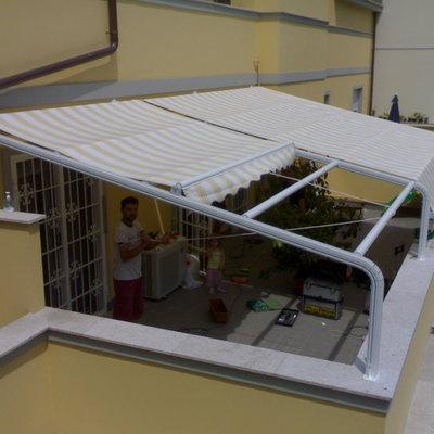 Progetto realizzazione tenda ad attico - tipo leggero - solare a Milano (MI)