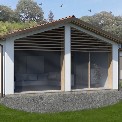 Casa unifamiliare NZEB prefabbricata in legno e argilla a Creazzo