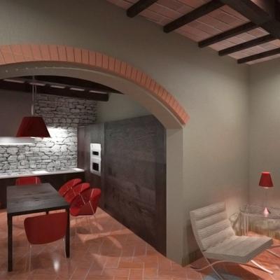 Progetto ristrutturazione di immobile con SPA nel centro storico di Terricciola (PI)
