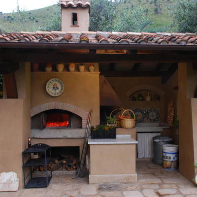 Vista forno e barbecue