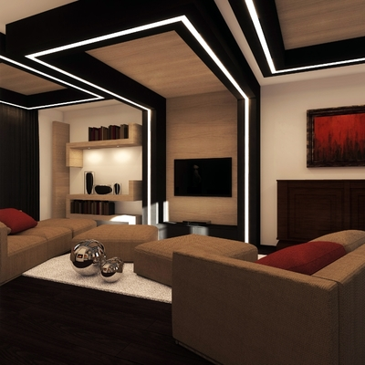 Progetto di interni soggiorno