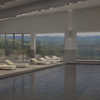 Due piscine per un resort