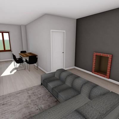 Render d'interni - Ristrutturazione di un appartamento