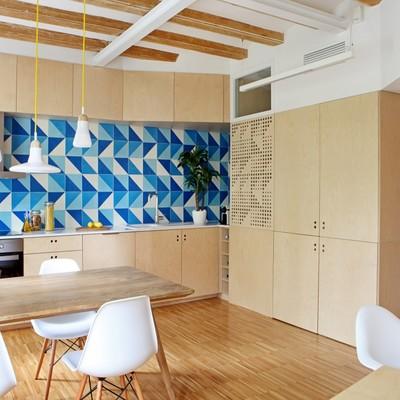 Un appartamento fresco e trendy, ricco di idee funziali