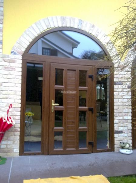 Progetto di chiusura porticato con porte scorrevoli e centine idee infissi e carpenteria in - Progetti e costruzioni porte ...