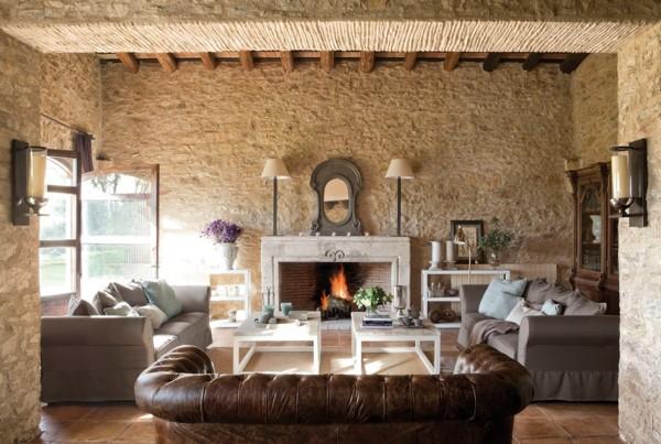 Arredamento Moderno E Rustico : Come arredare un salone rustico moderno idee interior designer
