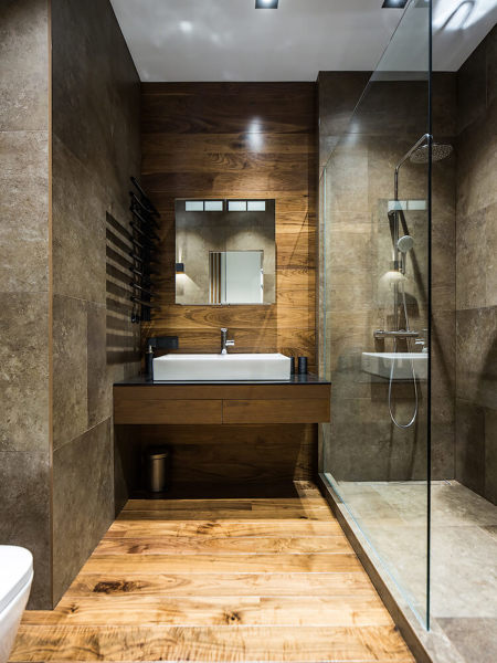 Bagno Moderno Con Parquet.Foto Bagno Con Parquet Di Rossella Cristofaro 472406 Habitissimo