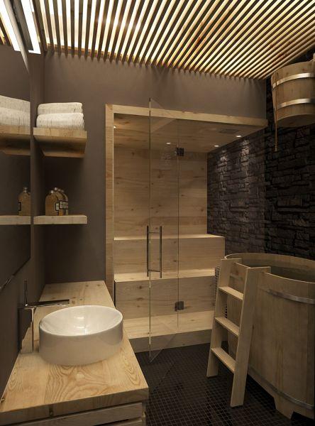 foto bagno con sauna di manuela occhetti 346262 habitissimo. Black Bedroom Furniture Sets. Home Design Ideas