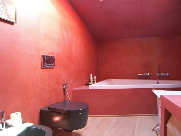 Foto bagno in spatolato tipo cemento di farbe di jorg stockter