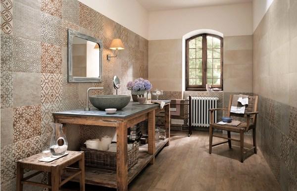 Foto bagno in stile rustico contemporaneo di rossella for Case in stile prateria contemporaneo