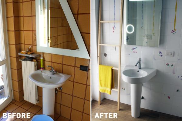 Foto: Bagno Prima e Dopo di Rossella Cristofaro #360883 - Habitissimo