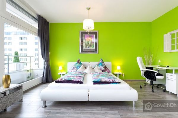 Foto camera da letto pittura lavabile di eurodecori - Pittura camera letto ...