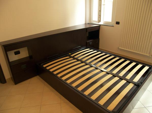 Foto camera da letto rovere scuro e laccato bianco crema di figli di consonni amedeo 147991 - Camera da letto rovere ...