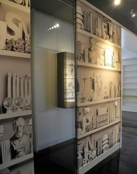 Foto carta da parati disegno libreria di interior for Carta da parati libreria
