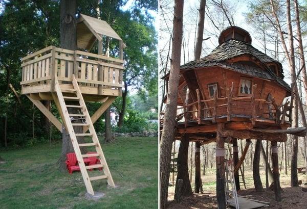 Foto casa sull albero stile gotico di valeria del treste for Kit per costruire casa sull albero
