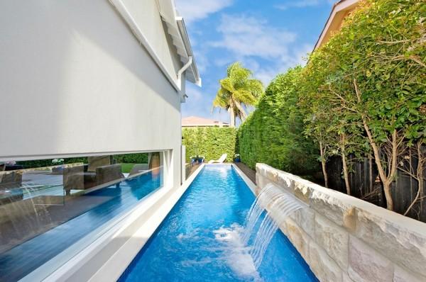 Cascate Da Giardino Moderne : Cascate per piscine quando la bellezza va a braccetto con la