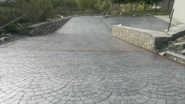 Calcestruzzo Stampato Palermo : Foto cemento stampato sanpietrino di campaniastone srl