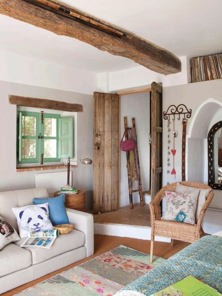 Foto colori pastello in casa rurale di valeria del treste - Como decorar una casa rural ...