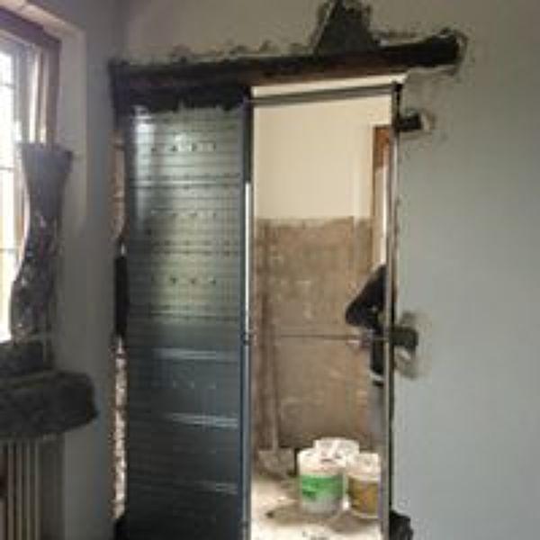 Foto contro telaio per porta scorrevole interno muro di - Telaio porta scorrevole ...