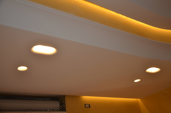 Foto controsoffitti illuminazioni led rgb faretti incasso led