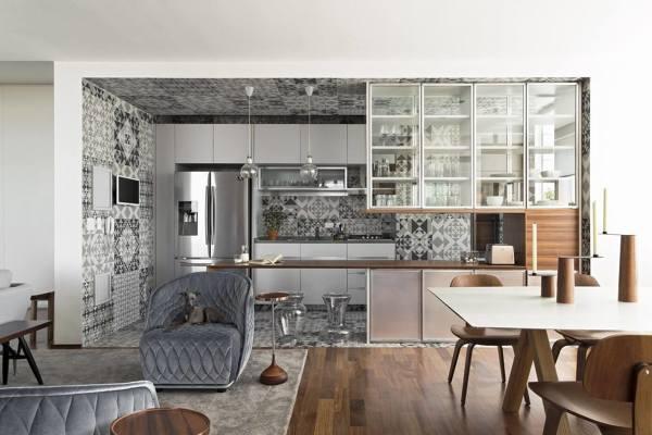 Arredo per cucina e soggiorno open space fotogallery