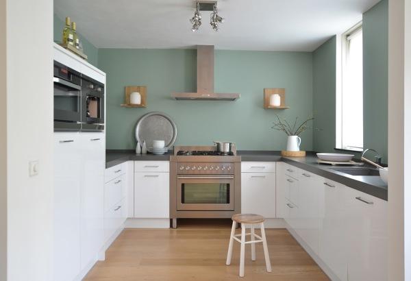 Foto cucina bianca con pareti verdi di rossella cristofaro 519117 habitissimo - Kleine keuken ideeen ...