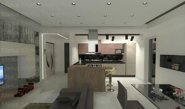 Foto: Progetto Open Space - Cucina con Isola di Meka Arredamenti ...