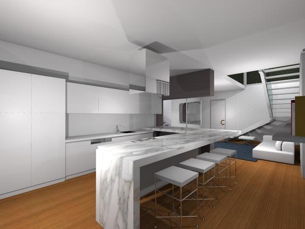 Foto: Cucina con Vista Living di Cf Costruzioni #622114 - Habitissimo