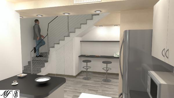 Foto: Cucina e Scala a Giorno - Zona Ampliamento di Studio Tecnico ...